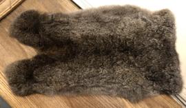 Konijn vel 5 Grijs-Bruin  Ca. 30 x 50cm