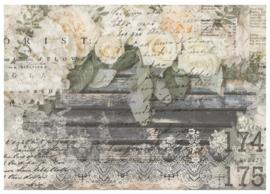 Decor Transfer White Fleur ca. 60 x 86 cm
