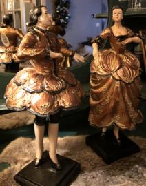 Dame en Heer Baroque Ca. 44(h)cm