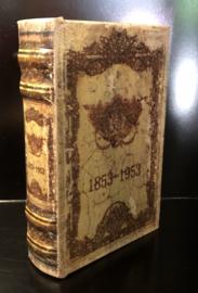 Boekendoos 1853-1953 Klein 10(b) x 3,5(d) x 15(h)cm