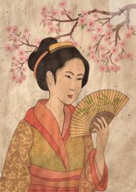 Geisha REVERSED - Mint by Michelle decoupage papier- A3