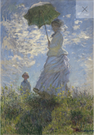 Lady with a parasol - Mint by Michelle Decoupage papier-A3
