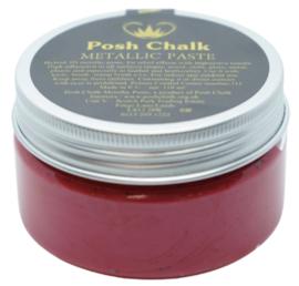 Posh Chalk Metallic Paste - Red Medium Cadmium 110ml