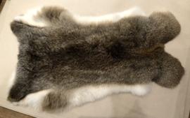Konijn vel 6 Bruin-wit Ca. 33 x 50cm