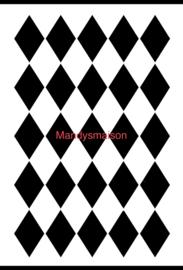 Posh Sjabloon Harlequin 21 x 30 cm