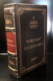 Boekendoos Worldmap Klein 10(b) x 3,5(d) x 15(h)cm