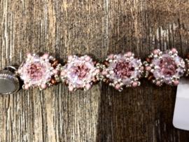 Armband Handgemaakt Roze 18 cm