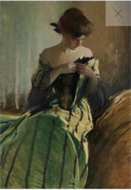 Study in Black & Green - Mint by Michelle Decoupage papier-A3