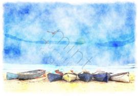 Coastal Blue - Mint by Michelle Decoupage papier-A3