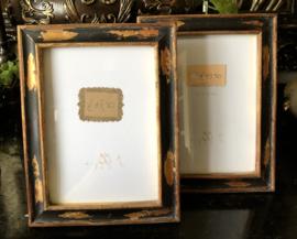 Fotolijst Zwart Goud  16,5(b) x 22(h) cm