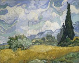 Wheatfields & Cypresses - Mint by Michelle Decoupage papier-A3