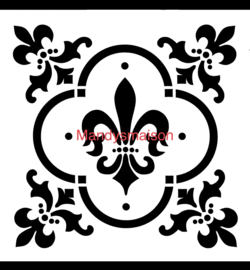 Posh Sjabloon Fleur de Lis 30 x 30 cm