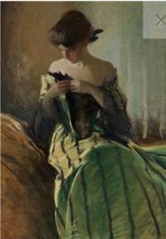 Study in Black & Green REVERSED - Mint by Michelle Decoupage papier-A3