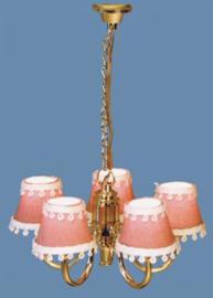 Hanglamp Roze 5-lamps 12 volt