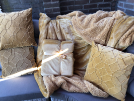 Super zachte deken 1.50 x 2m Kleur Honing