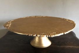 Taartplateau Goudkleur, kunststof, 31(b)x10(h)cm