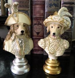 Set van 2 kleine Hondenbustes 20(h)cm