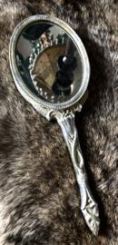 Handspiegel zilver 22 cm lang