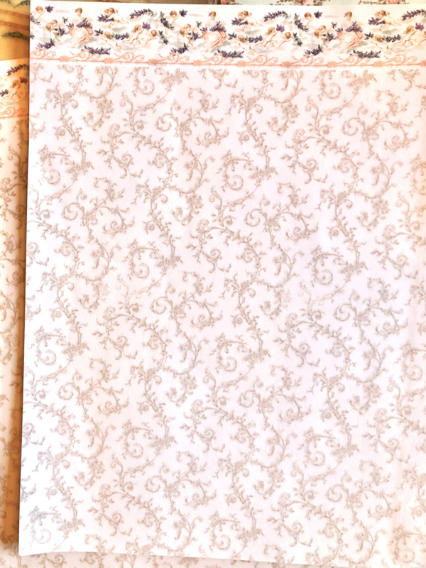 Behang Engeltjes ( 44b x 29h cm)