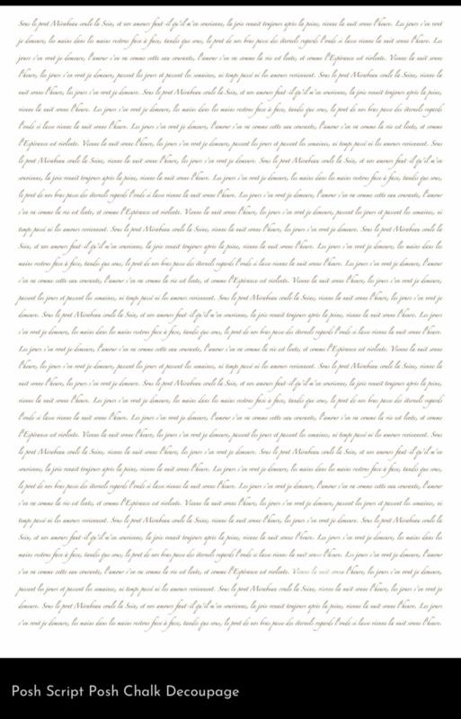 Nieuw Script  A1 Posh Chalk Deluxe Decoupage