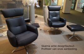 Deense Skalma - Actie: Moderne designfauteuil met verstelbare rug -  EEN TOPPER!- direct leverbaar