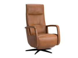 The new Fabulous Five, draaifauteuil met lederen armleggers