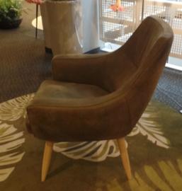 Scandinavische Skalma Design fauteuil, model Matros met houten pootjes