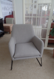 Moderne Deense Skalma fauteuil met metalen frame