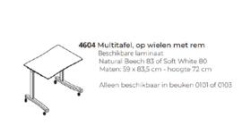 Handige multi tafel voor Farstrup fauteuils