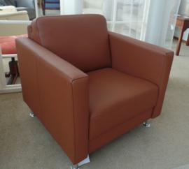 Lederen Skalma fauteuil -tijdloos model, direct leverbaar