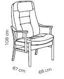 Farstrup Deense ergonomische comfort fauteuil - Casa met gestoffeerde armleggers