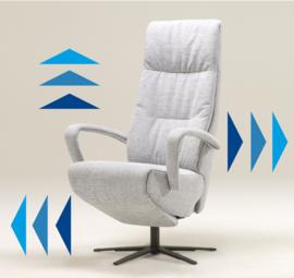 Relaxfauteuil Twice Plus, ideale luxe  stoel voor lange mensen en ook met opstahulp