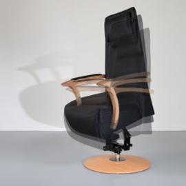 Handmatig of elektrisch bedienbare Design fauteuil, Universal Wood, maatwerk fauteuil