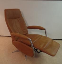 Ergonomische Relaxfauteuil, model Amersfoort  met metalen armen, direct leverbaar