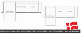 Bank, Deens Design, Skalma Creativo, kies uit diverse elementen, stoffen of lederen bekleding