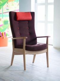 Farstrup Deense ergonomische fauteuil op maat, model Plus met opsta zitting. elektrisch