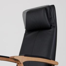 Relaxfauteuil  UniversaL Wood - Deens Design -  handmatig of elektrisch verstelbaar,  uitstekend zitcomfort