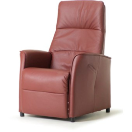 Sta op fauteuil Doorn, met perfect zitcomfort maat M dik rundleder Elektrisch verstelbaar  - met introductie korting