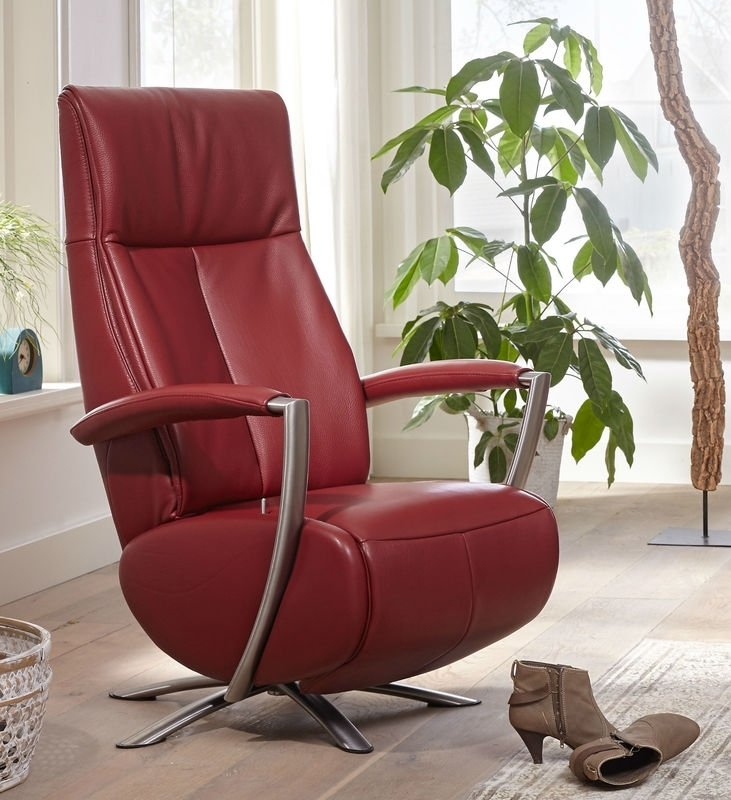 Draairelaxfauteuil Amersfoort met opstahulp, elektrisch verstelbaar met  3 motors - moderne vormgeving, perfect zitcomfort