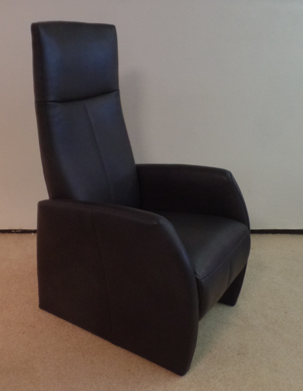 New Fabulous Five Relaxfauteuil - direct leverbaar - in mooie zwarte leder