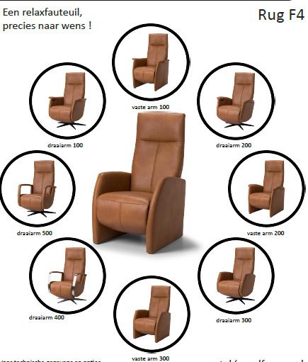Voorbeeld van The New Fabulous Five Relaxfauteuil met rug nr 4