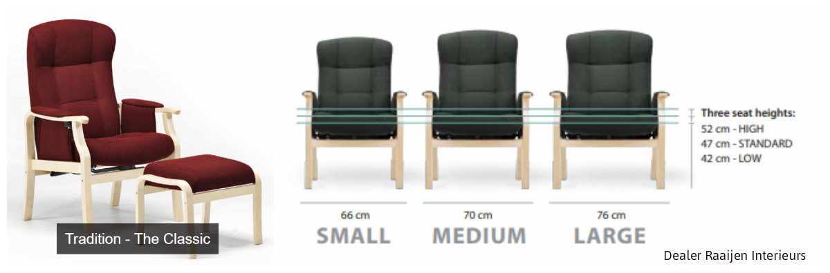 De meest verkochte senioren fauteuils in Scandinavië