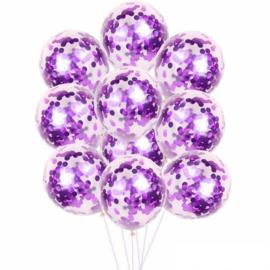 10 x Confetti ballon paars