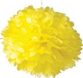 5 x PomPom gelb 35 cm