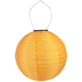 Lampion Solaire rond orange  35 cm
