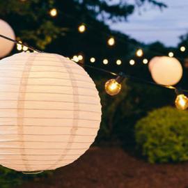 Anfangset LED Leuchtschnur warm weiss - 10 meter