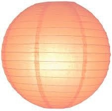 Lampion orange clair 25 cm