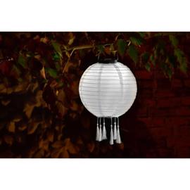 10 x Solar Lampion rund weiß 35 cm (Solarenergie)