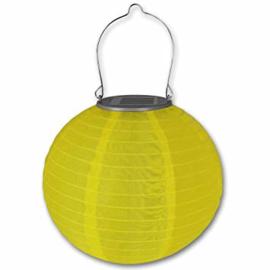 Lampion Solaire rond jaune  35 cm