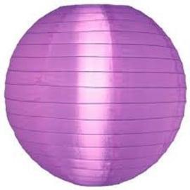 5 x Lampion violet de nylon 35 cm